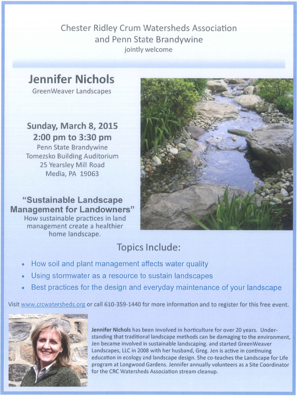 Jennifer Nichols Workshops