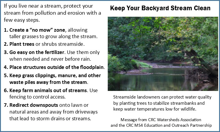 Tips for Streamside Landowners short