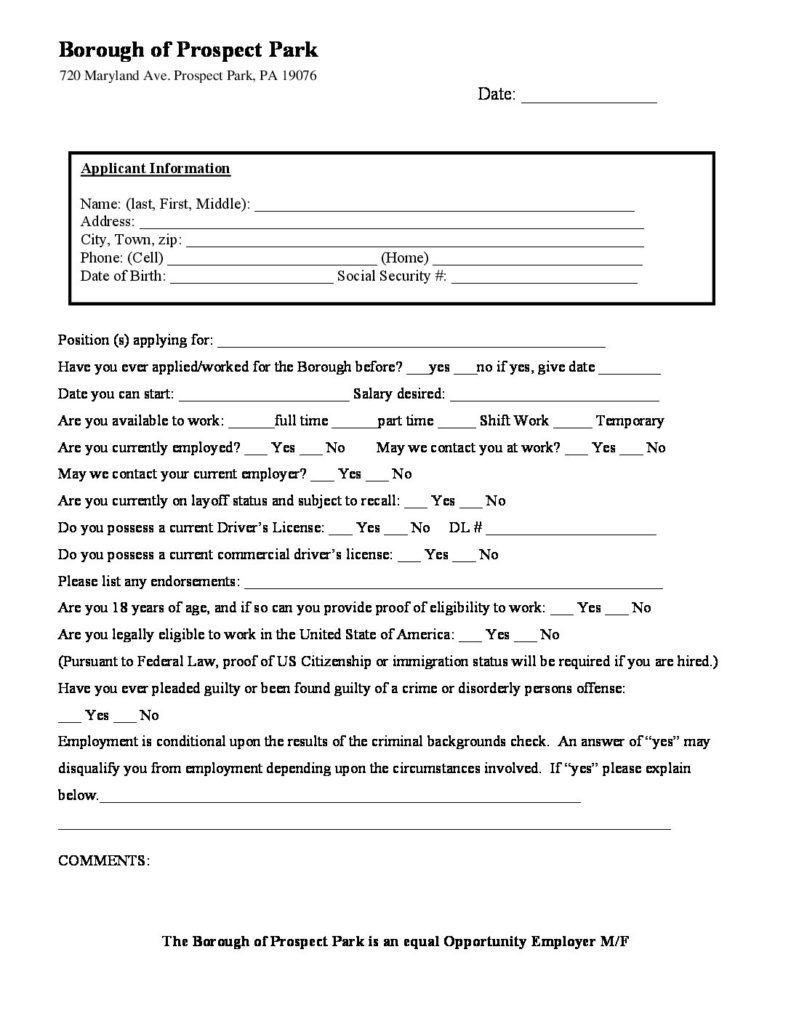 permits applications forms